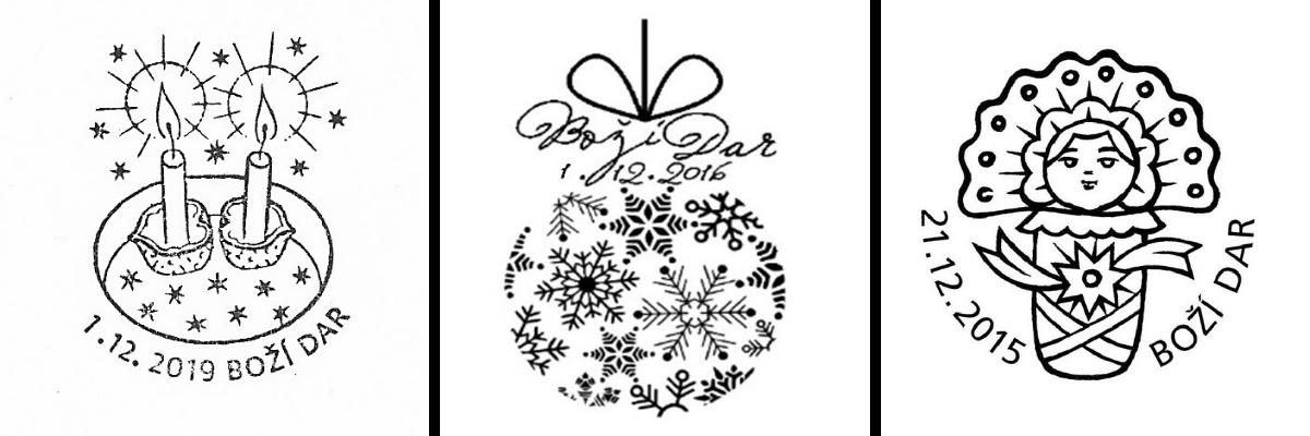 Boží Dar vánoční razítka